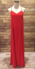 Small Lulus Coral Red Maxi Dress Wedding Guest Summer Vacation