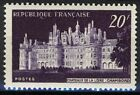 France 1952, 20 Fr Chambord Castle Vf Mnh, Mi 941