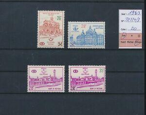 LN72813 Belgium 1963 train station railway stamps fine lot MNH cv 20 EUR
