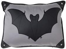 Sourpuss Canvas Bat Pillow NEW Goth Punk Rock Horror Halloween Decor Studded