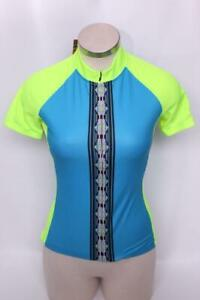 New Canari Sona Women's Jersey Cycling Bike Small Blue Short Sleeve