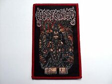 DISSECTION MAHA KALI  red border    WOVEN  PATCH