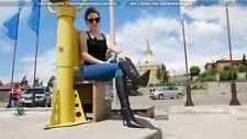 GIANMARCO LORENZI Size40 US9 pointy toe stiletto high heels leather boots Winter