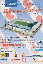 Programme / Programma SC Heerenveen v Fortuna Sittard 25-04-1998