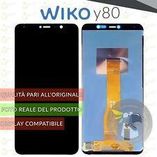 DISPLAY LCD + TOUCH SCREEN VETRO ASSEMBLATO PER WIKO Y80 NERO SCHERMO W-V720