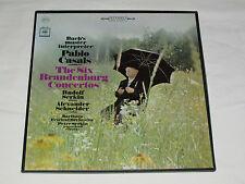 BACH The Six Brandenburg Concertos - Pablo Casals 2-LP BOX SET Serkin Schneider