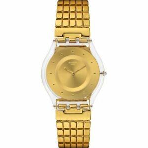 Swatch Skin Quartz Movement Gold Dial Ladies Watches SFK394GB