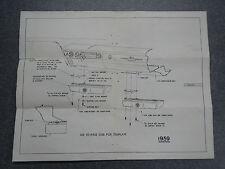 1959 Buick Tissue Dispenser Mounting Instruction Assembly Sheet Kleenex