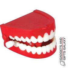CHATTERING TEETH CLASSIC CLOCKWORK TOY FALSE TEETH toy gadget gift childs kids