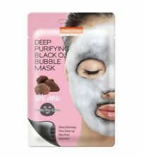 PUREDERM Deep Purifying Black O2 Bubble Mask VOLCANIC SAUERSTOFF REINIGUNG MASKE
