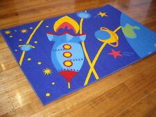 Kids Floor Rug Carpet Moern Designer Blue 150 x 100 FREE DELIVERY Space Blue