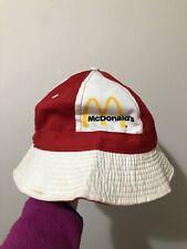 Vintage 60s 70s McDonalds Pinwheel Bucket Hat M Medium Fast Food Made In USA