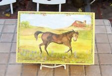 Reeves Enchantments Horse Ranch Musical Treasure & Jewelry  Mint Box  9X6X3.25""
