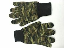 Camouflage COTTON RIBBED Gloves ,FISHING MOTOR BIKE JODO KARATE, DEAL OF 4 PAIRS