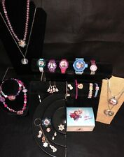DISNEY FROZEN ELSA ANNA OLAF JEWELRY Watch Necklace Charm Bracelet RINGS LOT Box