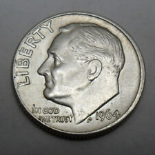 1964 D Roosevelt Dime *90% Silver* *Au - About Uncirculated* *Free Shipping*