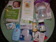 Lot of 10 Assorted Baby Mom Pregnancy Products - Bottle Skin Bath Vitamins More