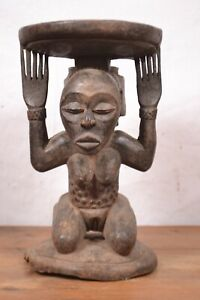 African Tribal Art,Luba- stool Statue-from southeastern  DRC,