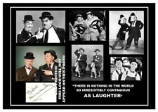 (##62) laurel and hardy signed a4 photograph (reprint) great gift ##############
