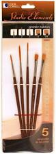 Loew Cornell STUDIO ELEMENTS 1024921 GOLDEN TAKLON Brush Set ASSORTED