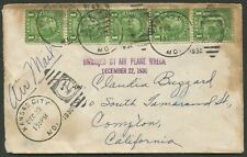 USA: 22 Dec.1930 (AmAMC.30.15) Kansas City - California waterstained cover