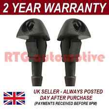 PAIR UNIVERSAL WINDSCREEN WASHER SINGLE JET STRAIGHT INLET PUSH FITTING 4MM WWY4