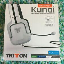White Headset Tritton Kunai Universal Stereo PlayStation 4 Wii U Xbox 360 PC Mac