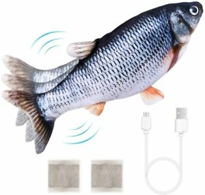Flapping Realistic Cat Flopping Fish Toy Dancing Fish Catnip Toys for Cats