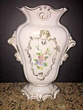 ANTIQUE ITALIAN PORCELAIN HAND PAINTED FLORAL VASE GOLD SIGNED,NUMBERED, MARKED