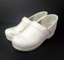 Dansko Clogs Slip On Shoes Size 40 White Leather Doctor Nurse Comfy See All Pics