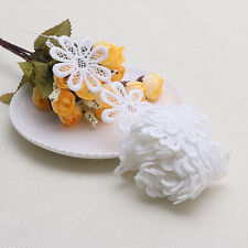 2 Yards White Lace Trim Ribbon Sewing Hand Crafts Daisy Flowers Lace Applique