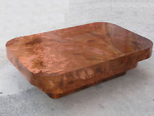 OUTRAGEOUSLY CHIC 70s COPPER TONE FORMICA MILO BAUGHMAN STYLE COFFEE TABLE