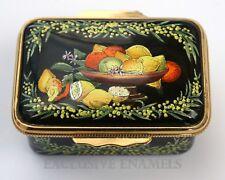 Halcyon Days Enamels Mimosa & Fruit Enamel Box