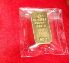 DEGUSSA 50 Gramm Feingold Barren Goldbarren Gussbarren 999,9 in OVP