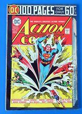 ACTION COMICS #437 COMIC BOOK ~100 PAGES SUPERMAN ~ 1974 DC BROZE AGE  ~ NM