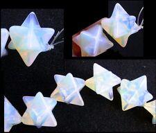 1 OPALITE Merkaba Star BEAD - Rainbow Colors!