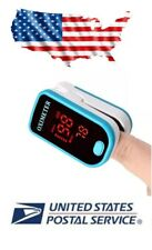 FDA Finger Pulse Oximeter Blood Oxygen Sensor O2 SpO2 Monitor Heart Rate, Blue