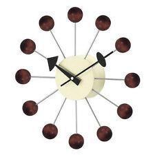 George Nelson Midcentury Modern Style Ball Clock Walnut