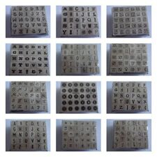 ** HAMILTON ART PRETTY ALPHABET STAMPS FOR CARDS & CRAFTS ** PERFECT FOR CARDS