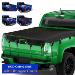 Car Truck Bed Tarp Cover Waterproof 600D Oxford Fabric Pickup Truck Bed Cover ×1