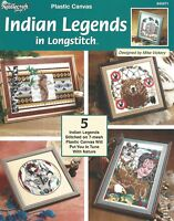 Indian Legends in Longstitch Plastic Canvas Patterns TNS Bear Eagle Wolf Booklet