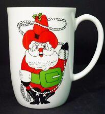 Vtg 1976 Fitz Floyd Cowboy Santa Coffee Cup Tea Mug Ff