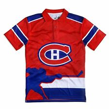 Forever NHL Montreal Canadians Polyester Thematic Polo Shirt Men's XL *NWT*