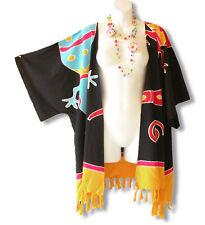 Black Gecko Plus Size Cardigan Duster Jacket Kimono Cover up - 2X, 3X, 4X & 5X