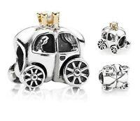 Genuine Pandora Sterling Silver ALE 925 Royal Carriage Charm 790598P