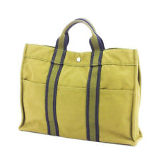 HERMES tote bag Furutu cotton canvas Auth used T17752