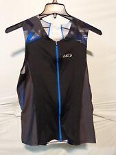 Louis Garneau Pro Carbon Comfort Triathlon Top Black/Curacao Blue Men's XL $95