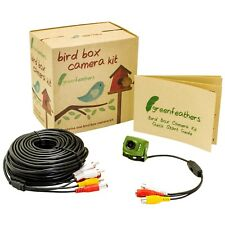 Green Feathers Wired Bird Box Camera 700TVL with Night Vision & 20m Cable