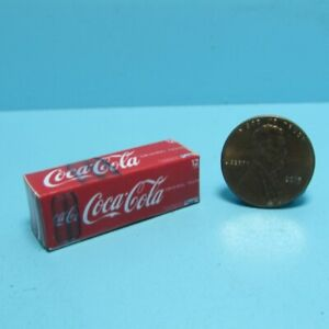 Dollhouse Miniature Replica Coca Cola Soda Box / Case