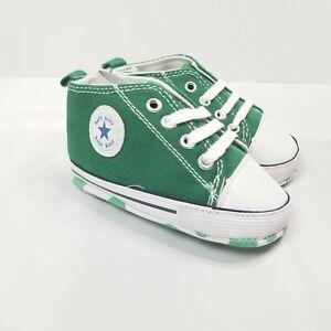 Unbranded Baby Green Flex Sole Soft Bottom Pre Walker Slip On Sneakers Size 3